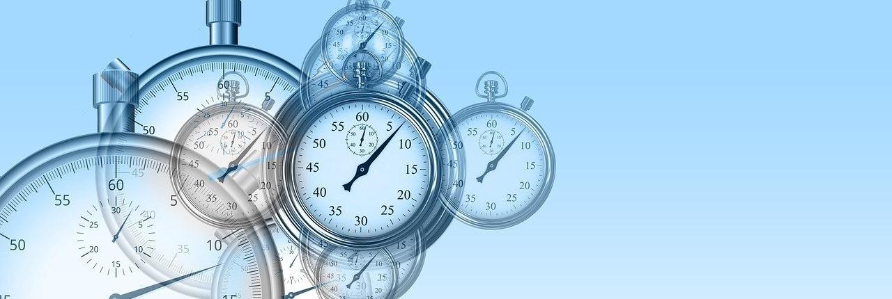 Imagen del tiempo perdido en las tareas online